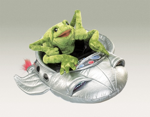 Frog In Spaceship Puppet - Folkmanis (2837)