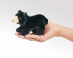 Mini Black Bear Finger Puppet - Folkmanis (2641)