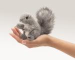 Mini Gray Squirrel Finger Puppet - Folkmanis (2648)