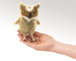 Mini Great Horned Owl Finger Puppet - Folkmanis (2752)
