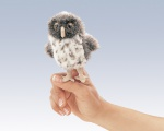 Mini Spotted Owl Finger Puppet - Folkmanis (2638)