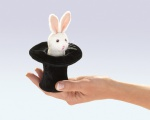Mini Rabbit In Hat Finger Puppet - Folkmanis (2709)