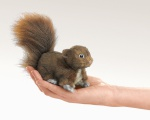 Mini Red Squirrel Finger Puppet - Folkmanis (2735)