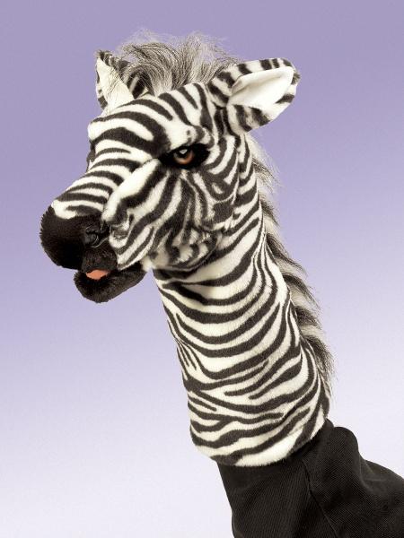 Zebra Stage Puppet - Folkmanis (2565)