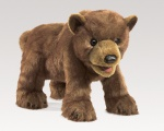 Brown Bear Cub Puppet - Folkmanis (3065) - FREE SHIPPING!