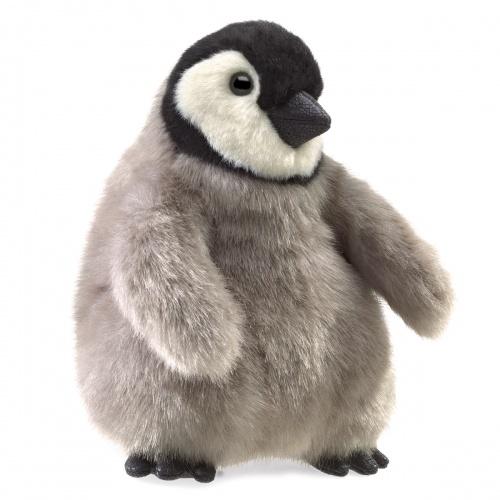 2680 Folkmanis Mini Emperor Penguin Baby Finger Puppet Plush